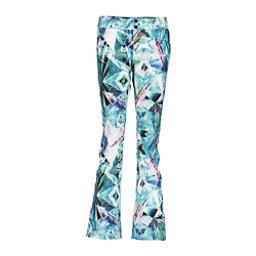 Obermeyer Print Bonded Short Womens Ski Pants, Aqua Aura, 256