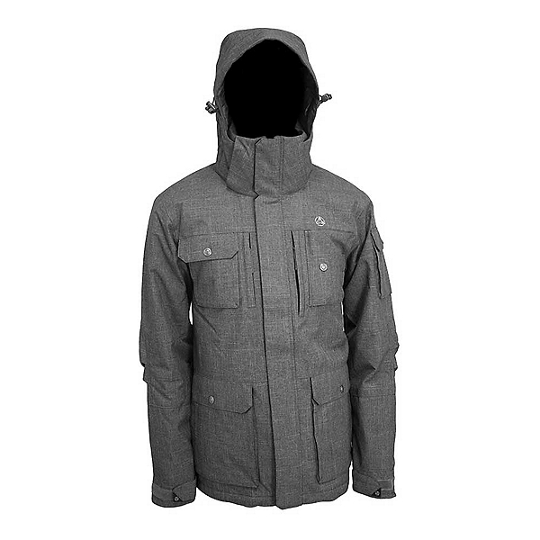 Turbine Timberline Mens Insulated Snowboard Jacket, Slate, 600