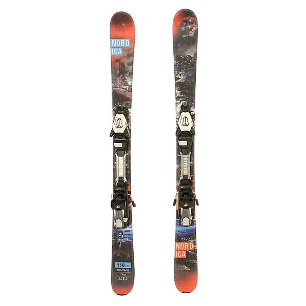 Used 2015 Nordica Ace Jr Skis Salomon C5 Bindings A Youth Size, , 600