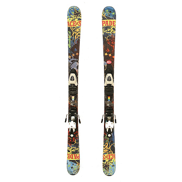 Used 2012 Nordica Ace Jr Skis Salomon T5 Bindings A Youth Size Twin Tip, , 600