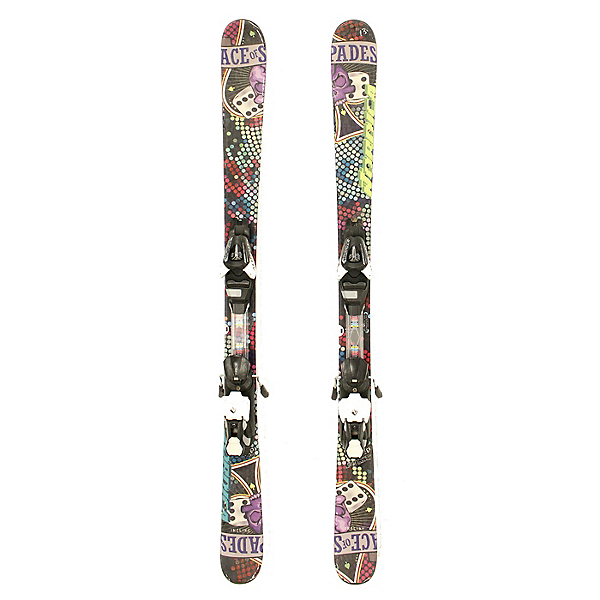 Used 2013 Nordica Ace Jr Skis Salomon L7 Bindings C Youth Size Twin Tip, , 600