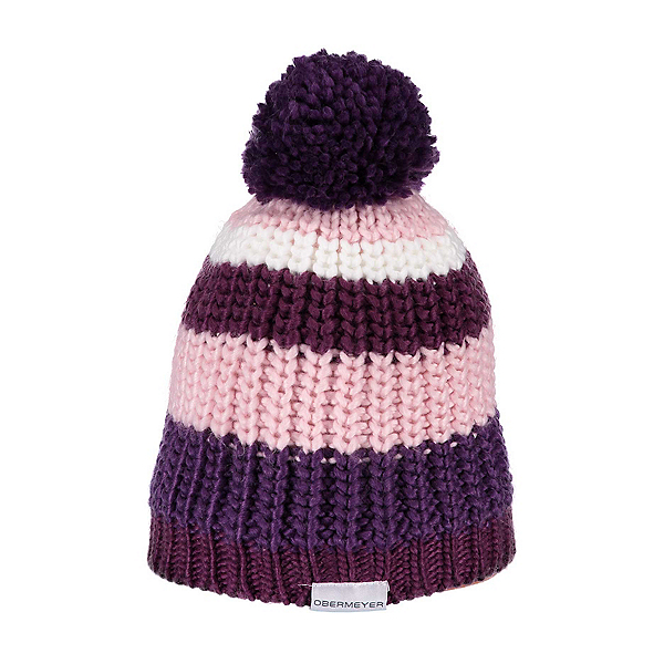 Obermeyer Lee Knit Girls Kids Hat, Metal Magenta, 600