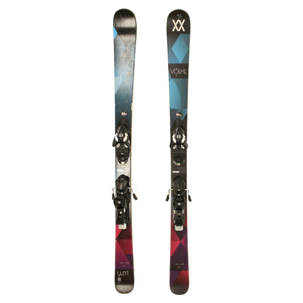 Used 2016 Womens Volkl Yumi Skis with Salomon Z10 Bindings C Cond