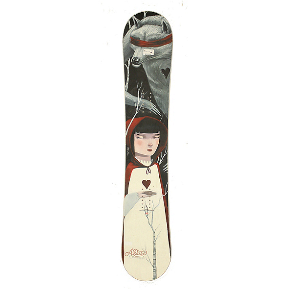 Used 2015 Womens High Society Snowboard Deck Red Riding Hood C, , 600