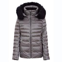 f06c5b32 FERA Julia Special Edition - Real Fur Womens Insulated Ski Jacket, Pewter,  256