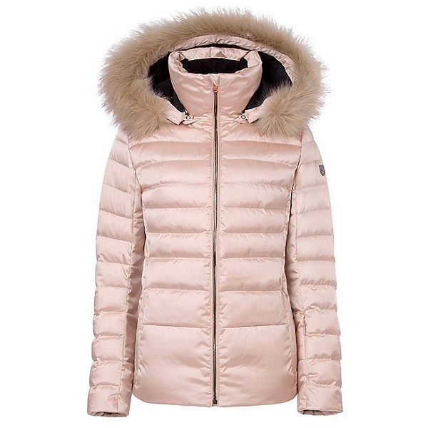 FERA Julia Special Edition - Real Fur Womens Insulated Ski Jacket, Rose Gold, 600