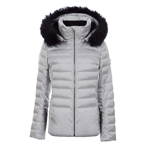 FERA Julia Special Edition - Real Fur Womens Insulated Ski Jacket, Silver, 600