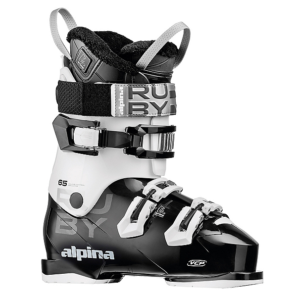 Alpina Ruby 65 Heat Womens Ski Boots 2019, Black-White-Coral, 600
