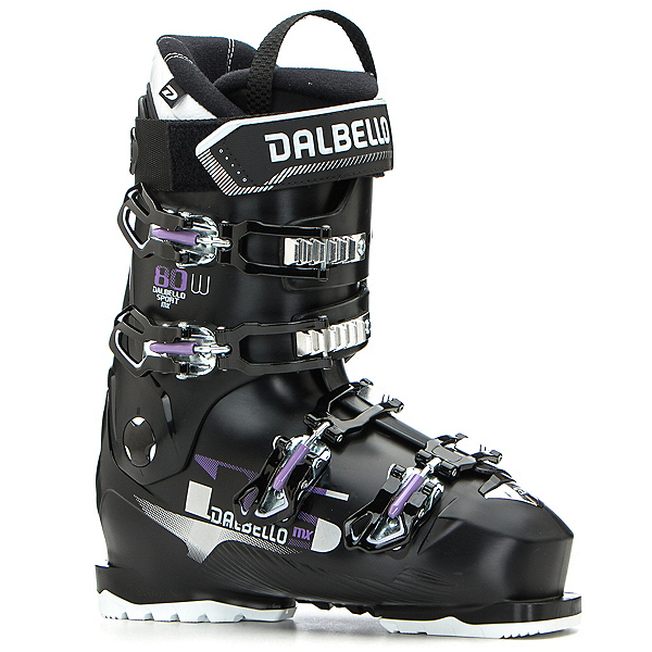 Dalbello DS MX 80 W Womens Ski Boots 2020, Black-Black, 600