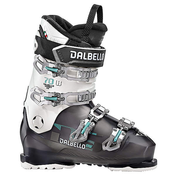 Dalbello DS MX 70 W Womens Ski Boots, Black Transparent-White, 600