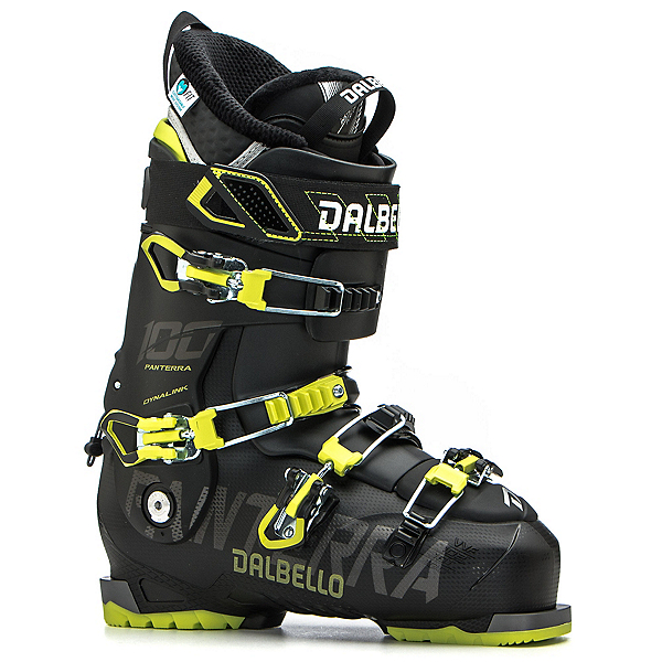 Dalbello Panterra 100 Ski Boots, Black-Acid Yellow, 600