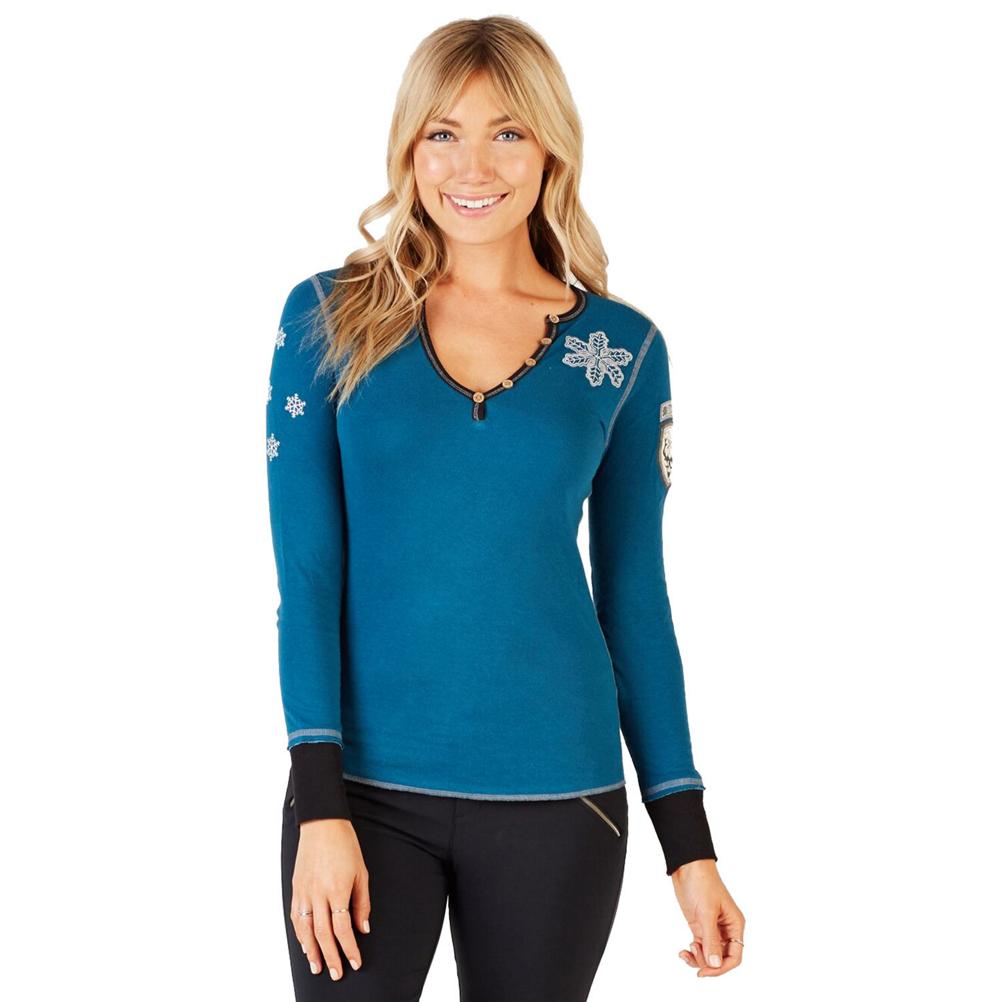 Alp-n-Rock La Neige Henley Womens Shirt