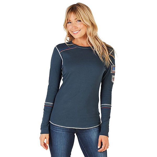 Alp-n-Rock Ski USA II Crew Womens Shirt 2019, , 600