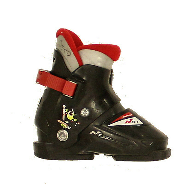 Used Kids Nordica Super No 1 Ski Boots Toddlers Sizes, , 600