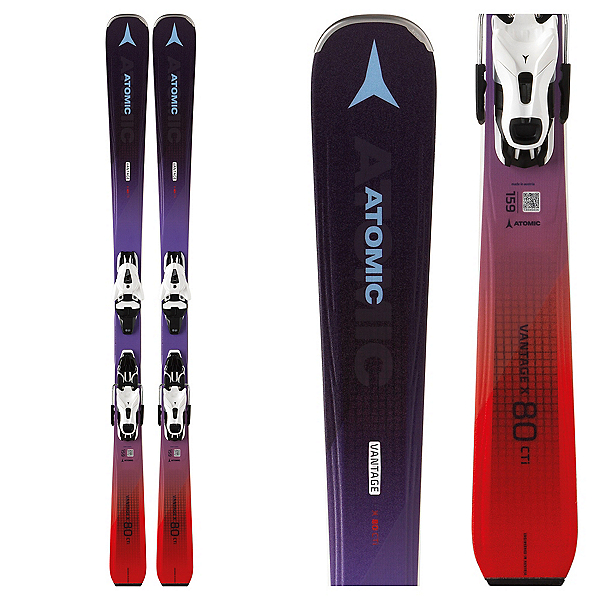 Atomic Vantage X 80 CTi W Womens Skis with FT 11 GW Bindings, , 600