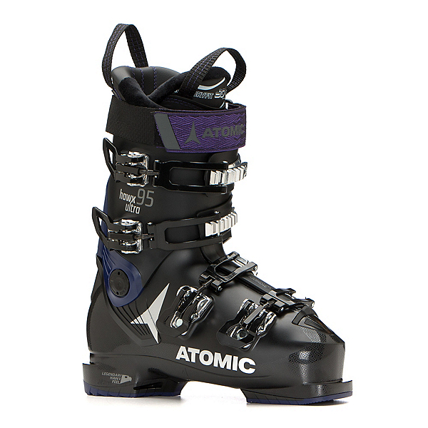 Atomic Hawx Ultra 95 W Womens Ski Boots 2019, Black-Purple, 600