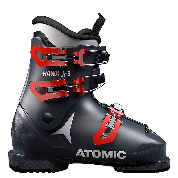 Atomic Hawx Jr. 3 Kids Ski Boots, Dark Blue-Red, 600