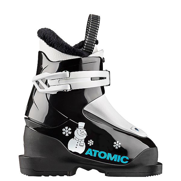 Atomic Hawx Jr. 1 Kids Ski Boots, Black-White, 600