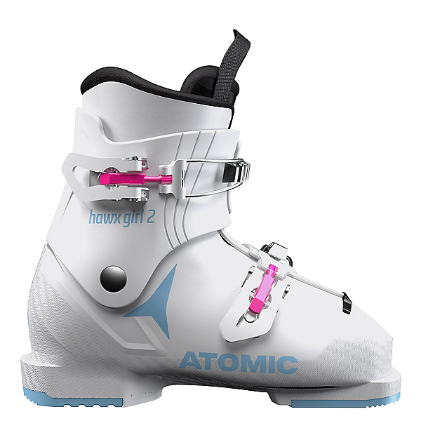 Atomic Hawx 2 Girls Ski Boots, White-Denim Blue, 600