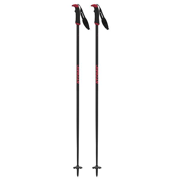 Atomic AMT Carbon SQS Ski Poles, Carbon Arc-Red, 600