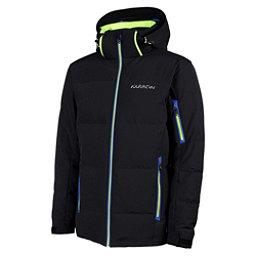 Karbon Thor Mens Insulated Ski Jacket, Black-Neon Lime-Empire, 256