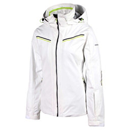 Karbon Ruby Womens Insulated Ski Jacket, Arctic White-Black-Black-Lime, 256