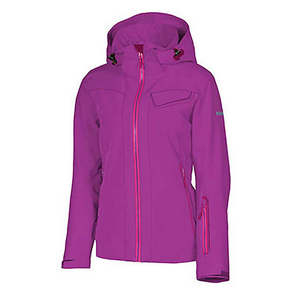 Karbon South Womens Insulated Ski Jacket, Violet-Violet-Regal Purple-Pu, 600