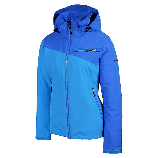 Karbon South Womens Insulated Ski Jacket, Hawaiin Blue-Blue-Hawaiin Blue, 600