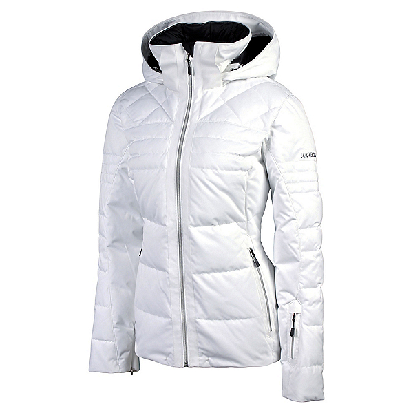 Karbon Ampere Womens Insulated Ski Jacket, Arctic White, 600