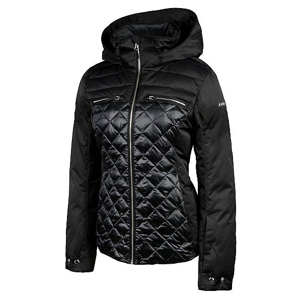 Karbon Pascal Womens Insulated Ski Jacket, Black-Midnight Black, 600
