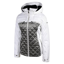 Karbon Pascal Womens Insulated Ski Jacket, Arctic White-Pewter, 256