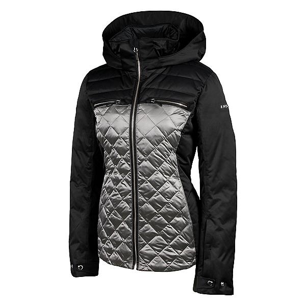Karbon Pascal Womens Insulated Ski Jacket, Black-Pewter, 600