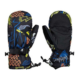 Quiksilver Mission Kids Mittens, Black Thunderbolts, 256