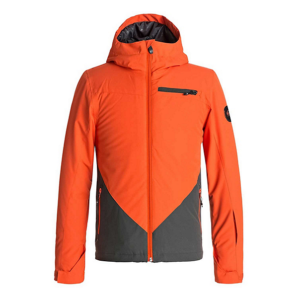 Quiksilver Suit Up Boys Snowboard Jacket, Mandarin Red, 600