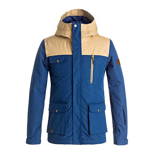 Quiksilver Raft Boys Snowboard Jacket, Estate Blue, 600