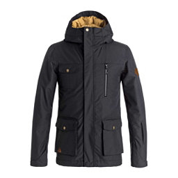 Quiksilver Raft Boys Snowboard Jacket, Black, 256