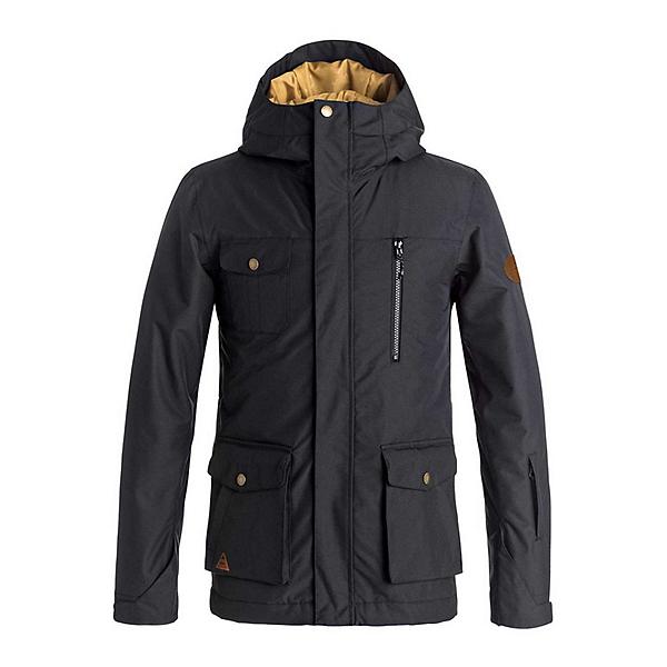Quiksilver Raft Boys Snowboard Jacket, Black, 600