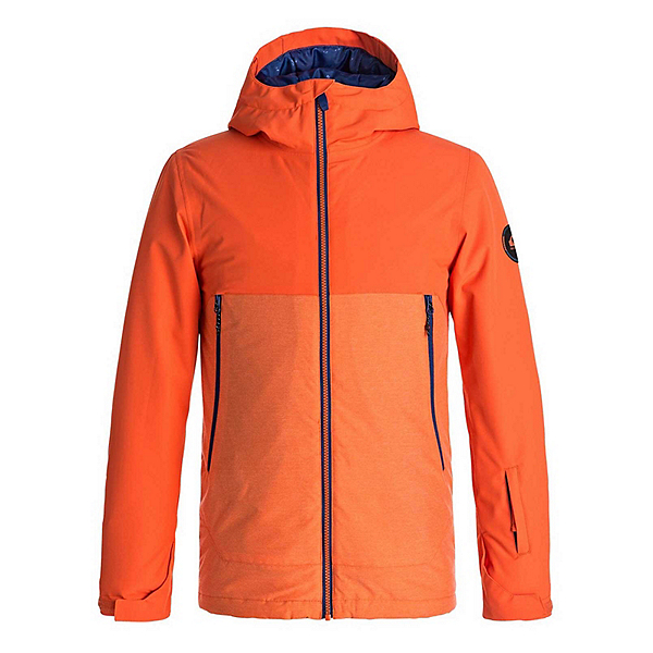 Quiksilver Sierra Boys Snowboard Jacket 2018, Mandarin Red, 600