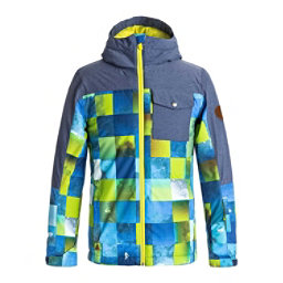 Quiksilver Mission Block Boys Snowboard Jacket, , 256