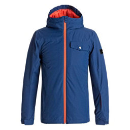 Quiksilver Mission Solid Boys Snowboard Jacket, Estate Blue, 256