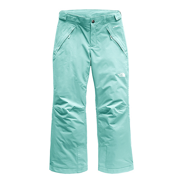 The North Face Freedom Insulated Girls Ski Pants (Previous Season), Mint Blue, 600