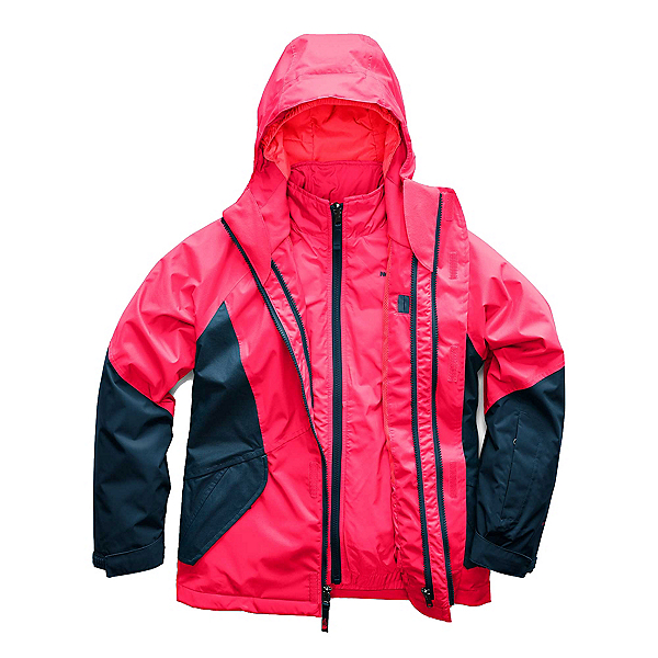 The North Face Kira Triclimate Girls Ski Jacket (Previous Season), Atomic Pink, 600