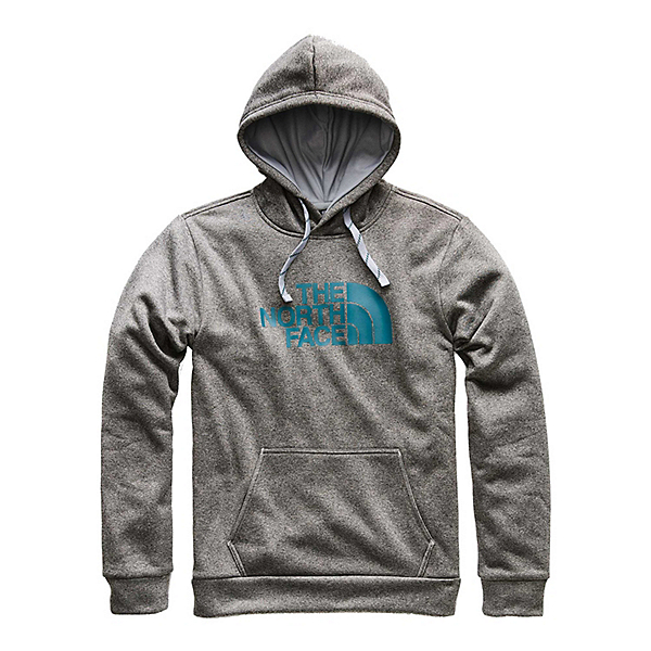 The North Face Surgent Pullover Half Dome Mens Hoodie, TNF Medium Grey Heather-Botani, 600