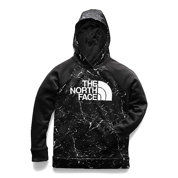 The North Face Surgent 2.0 Pullover Kids Hoodie, TNF Black Granite Print, 600