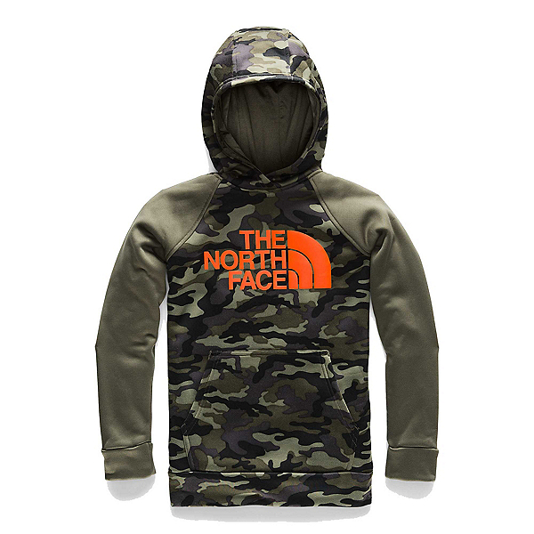 The North Face Surgent 2.0 Pullover Kids Hoodie (Previous Season), New Taupe Green Camouflage Pri, 600