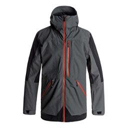 Quiksilver TR Stretch Mens Insulated Snowboard Jacket, Dark Shadow, 256