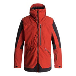 Quiksilver TR Stretch Mens Insulated Snowboard Jacket, Ketchup Red, 256