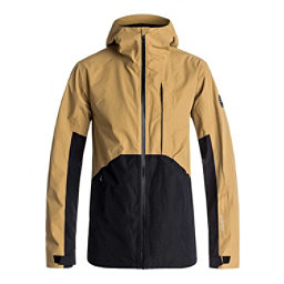 Quiksilver Forever 2L GORE-TEX Mens Shell Snowboard Jacket, Mustard Gold, 256