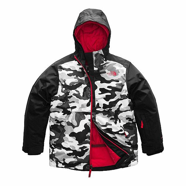 The North Face Brayden Insulated Boys Ski Jacket (Previous Season), TNF Black Camouflage Print, 600