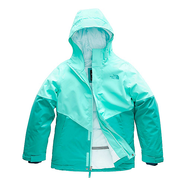 The North Face Brianna Insulated Girls Ski Jacket (Previous Season), Mint Blue, 600